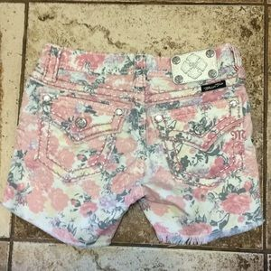 Miss Me Floral Shorts Girls Size 14